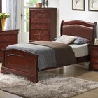 Lisle Upholstered Panel Bed Color: Cherry, Size: King