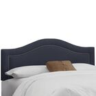 Ophiuchi Upholstered Panel Headboard Size: California King, Upholstery: Navy