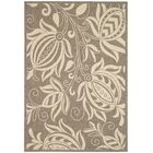 Marcella Brown & Natural Outdoor Area Rug Rug Size: Rectangle 5'3