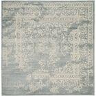 Costa Mesa Slate/Ivory Area Rug Rug Size: Square 6'