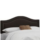 Ophiuchi Upholstered Panel Headboard Size: California King, Upholstery: Linen Black
