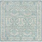 Montelimar Ivory/Light Blue Area Rug Rug Size: Square 6'7
