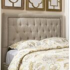 Djibril Square Upholstered Panel Headboard Size: Queen, Upholstery: Oatmeal