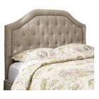 Djibril Scalloped Upholstered Panel Headboard Size: King, Color: Oatmeal