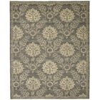 Eidelweiss Graphite Ornamental Leaf and Floral Area Rug Rug Size: Rectangle 9'9