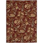 Broomhedge Red Area Rug Rug Size: Rectangle 5'3