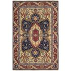 Pierson Hand-Woven Red/Blue Area Rug Rug Size: Rectangle 3'10