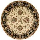Crownover Wool Ivory/Black Indoor Area Rug Rug Size: Round 7'10