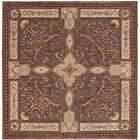 Brownlee Oriental Brown/Tan Area Rug Rug Size: Square 8'