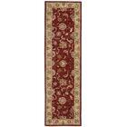 Ellerswick Hand Woven Wool Beige/Red Indoor Area Rug Rug Size: Runner 2'6