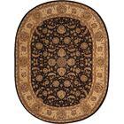 Buckhorn Hand Woven Wool Espresso Indoor Area Rug Rug Size: Oval 7'6