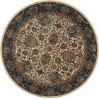 Madrid Brown Area Rug Rug Size: Round 7'5