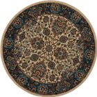 Madrid Brown Area Rug Rug Size: Round 5'