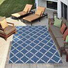 Crestmont Navy Indoor/Outdoor Area Rug Rug Size: Rectangle 5'3