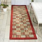 Hillhouse Beige/Red Area Rug Rug Size: Rectangle 3'6