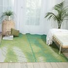 Adamov Green Floral and Plants Indoor/Outdoor Area Rug Rug Size: Rectangle 7'9