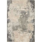 Mana Ivory/Gray Abstract Area Rug Rug Size: Rectangle 3'10