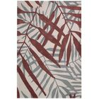 Clinton Hand-Tufted Red/Gray Area Rug Rug Size: Rectangle 8' x 10'6