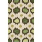 Pine Brook Beige/Green Area Rug Rug Size: Rectangle 8' x 10'6