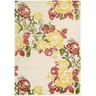 Robbin Ivory/Yellow Area Rug Rug Size: Rectangle 8' x 11'