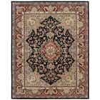 Bryony Hand Woven Wool Black/Brown Indoor Area Rug Rug Size: Rectangle 3'9