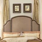 Augill Queen Upholstered Panel Headboard Upholstery: Mocha