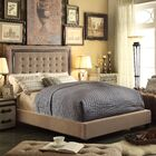 Rawley Upholstered Panel Bed Color: Mocha, Size: Queen