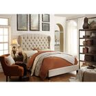 Feliciti Upholstered Panel Bed Color: Beige, Size: King