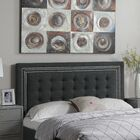 Rawley Queen Upholstered Panel Headboard Color: Charcoal