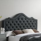 Wick, Somerset Queen Upholstered Panel Headboard Color: Charcoal
