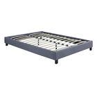 Hadwen Platform Bed Size: Full, Color: Grey Linen Fabric