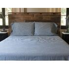 Catt 300 Thread Count Cotton Sateen Sheet Set Size: California King, Color: Navy/White