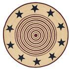 Brunswick Beige/Red Area Rug Rug Size: Round 6'