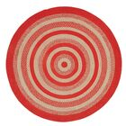 Gertrude Red/Beige Area Rug Rug Size: Round 6'