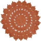 Sartain Hand-Woven Orange Area Rug Rug Size: Round 5'