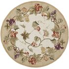 Kinchen Ivory/Tan Area Rug Rug Size: Round 3'