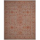 Prestige Hand-Tufted Gray/Rust Area Rug Rug Size: Rectangle 3' x 5'