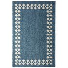 Opal Stacked Border Blue/Beige Area Rug Rug Size: Rectangle 8' x 10'