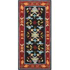 Chatelaine Hand-Tufted Black/Red Area Rug Rug Size: Rectangle 8' x 11'