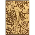 Laurel Natural / Brown Outdoor Area Rug Rug Size: Rectangle 5'3
