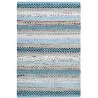 Vesey Hand-Woven Aqua/Gray Area Rug Rug Size: Rectangle 8' x 10'