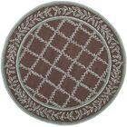 Kinchen Sage/Brown Area Rug Rug Size: Round 8'