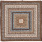 Liptak Hand-Braided Brown Area Rug Rug Size: Square 8'