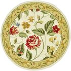 Kinchen Ivory Floral Area Rug Rug Size: Round 5'6