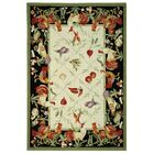 Kinchen Leaf and Chicken Novelty Area Rug Rug Size: Rectangle 5'3