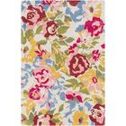 Strope Floral Hand Tufted Wool Pale Pink/Pink Area Rug Rug Size: Rectangle 2' x 3'
