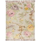 Bertha Hand Tufted Wool Pink/Green Area Rug Rug Size: Rectangle 9' x 12'