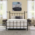 Christiana Queen Panel Bed Color: Black