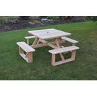 Law-Simmonds Wooden Picnic Table Color: Redwood Stain