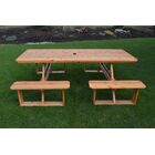 Bercht Wooden Picnic Table Color: Mushroom Stain